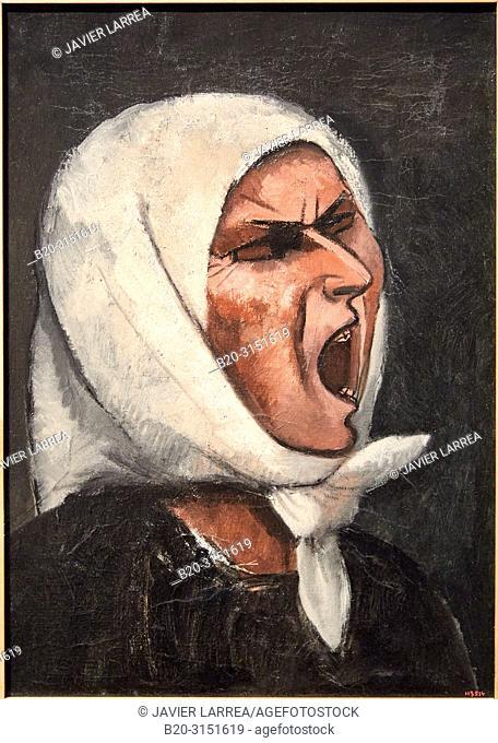 """""""Montserrat Shouting, No.1"""", c.1936-1939, Juli González, National Museum of Catalan Art, Museu Nacional d Art de Catalunya, MNAC, Barcelona, Spain, Europe"