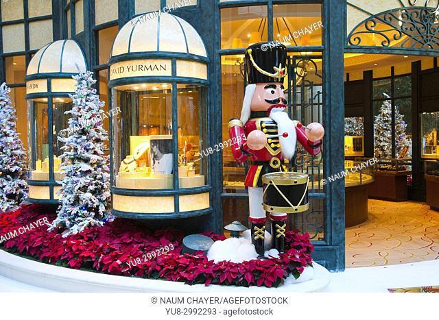 Christmas decoration inside of famous Beau Rivage hotel, Biloxi, Mississippi