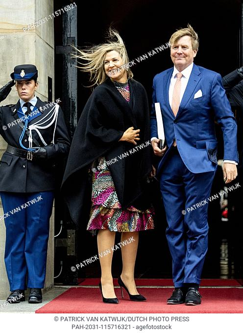 King Willem-Alexander and Queen Maxima of The Netherlands attend the new year reception at the Royal Palace in Amsterdam, The Netherlands, 15 January 2019