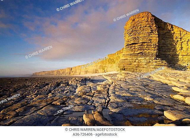 Nash Point nr St Donats Glamorgan Wales Heritage coast