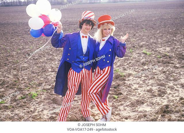 Teenagers Dressed As Uncle Sam, United States