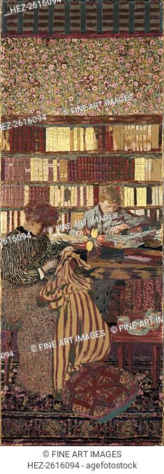 The Privacy. Decoration for the Library of Dr. Vaquez. Artist: Vuillard, Édouard (1868-1940)