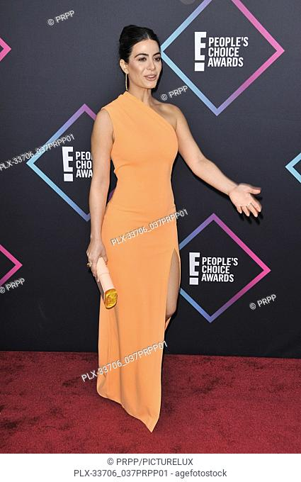Emeraude Toubia at E! People's Choice Awards held at the Barker Hangar in Santa Monica, CA on Sunday, November 11, 2018. Photo by PRPP / PictureLux