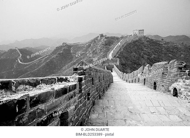 Great Wall of China and mountains, Beijing, China