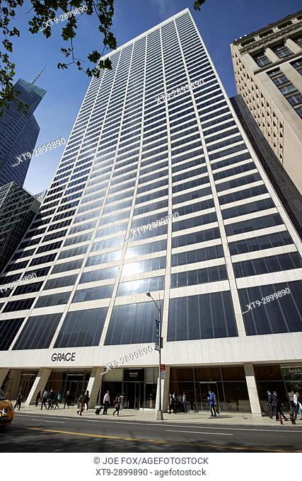 W R Grace building New York City USA