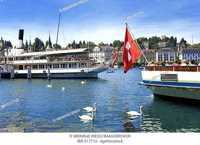 Ships, Lake Lucerne, Switzerland, Europe