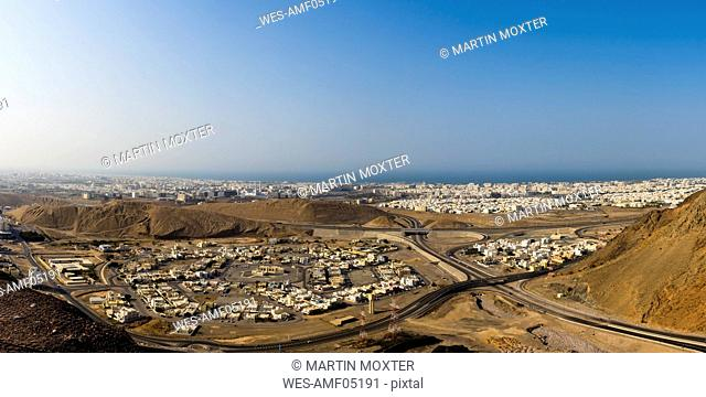 Oman, View over the city of Muscat