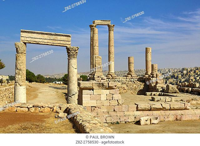 The Temple of Hercules in the Amman Citadel, Jabal Al-Qala, Amman, Jordan