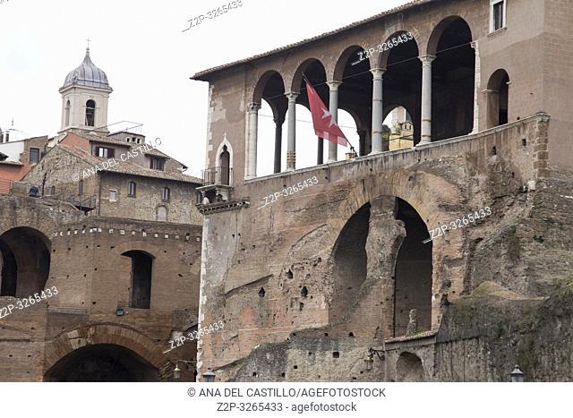 Trajan's Forum (market), Rome, Italy on February 8, 2017