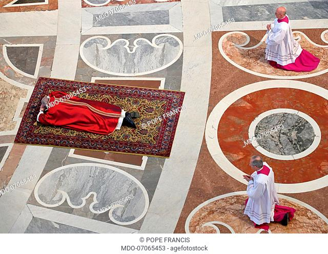 Celebration of the Passion of the Lord presided over by Pope Francis in the Vatican Basilica. Vatican City (Vatican), April 19th, 2019