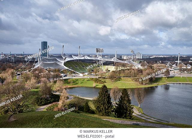 Germany, Munich, Olympic Park with Olympic Stadium