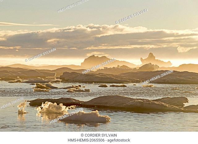 United States, Alaska, Arctic National Wildlife Refuge, Kaktovik, Pack ice, Floe