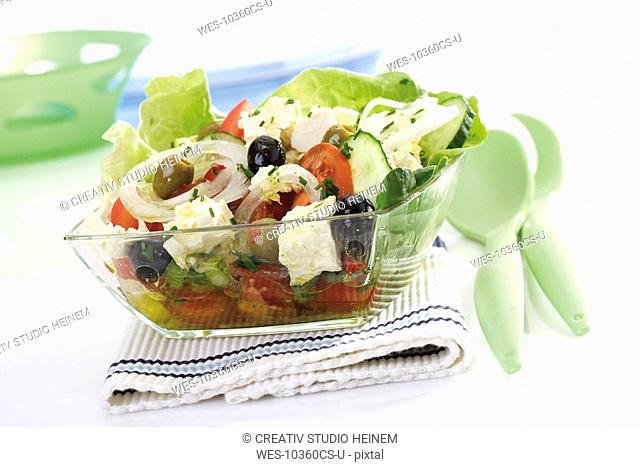 Mixed salad, Greek style