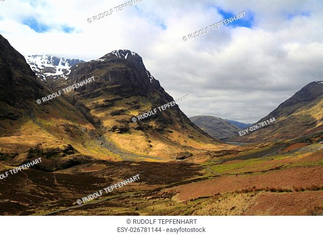Mountain range in Highland, Scotland, United Kingdom