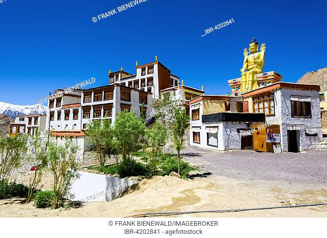 The Buildings of Likir Gompa monastery, Likir, Jammu and Kashmir, India