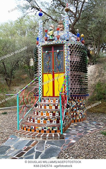 Decorated outhouse near San Miguel de Allende, Guanajuato State, Mexico