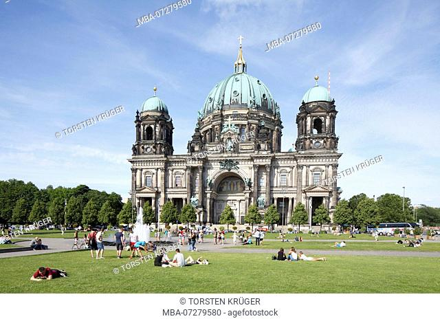 Berlin Cathedral and Lustgarten, Berlin-Mitte, Berlin, Germany