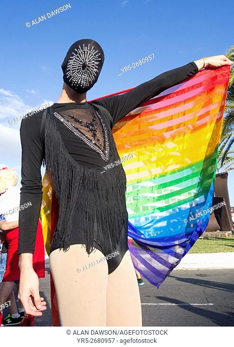 2016 Maspalomas Gay pride parade, Maspalomas, Gran Canaria, Canary Islands, Spain,