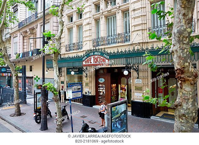 Cafe Tortoni. Avenida de Mayo. Buenos Aires. Argentina