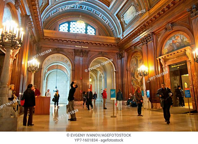 McGraw Rotunda in New York Public Library Main branch in New York City
