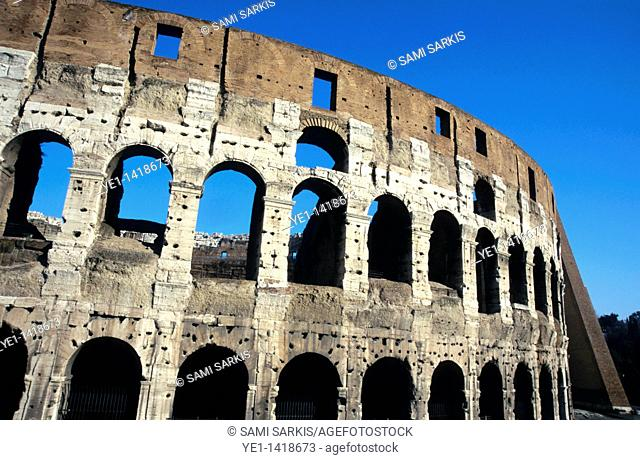 Interior view of the Colosseum, Rome, Italy