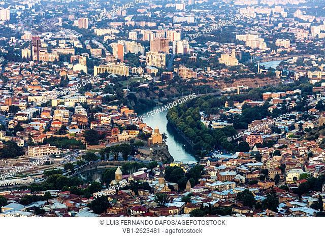 Tbilisi overview from Mt Mtatsminda, Tbilisi, Georgia