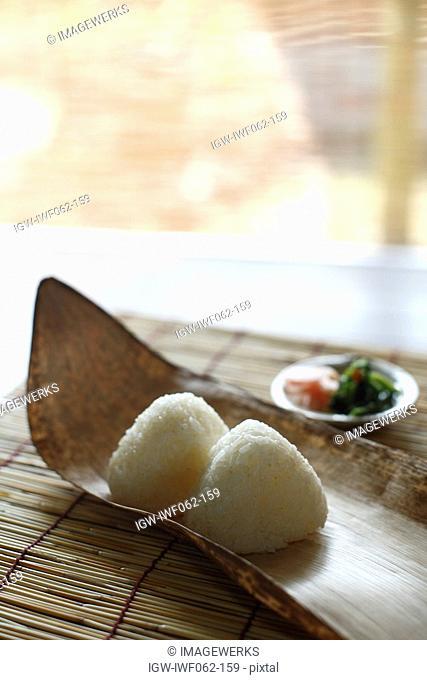Rice balls, close-up