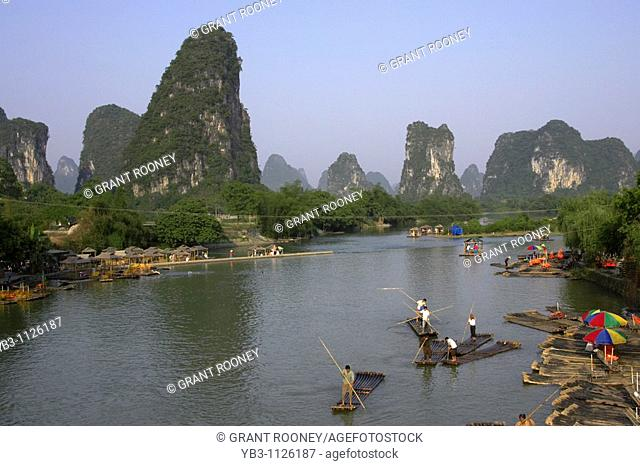 Limestone Mountain Scenery , Guilin / Yangshuo , China