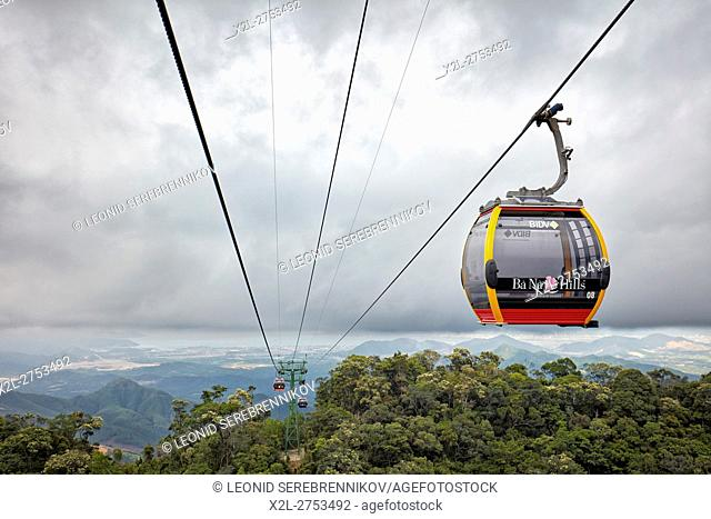 Ba Na Cable Car. Ba Na Hills Mountain Resort, Da Nang, Vietnam