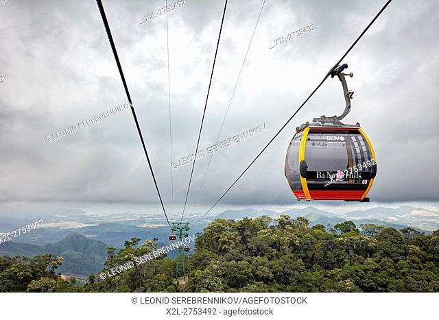 Ba Na Cable Car. Ba Na Hills Mountain Resort, Da Nang, Vietnam