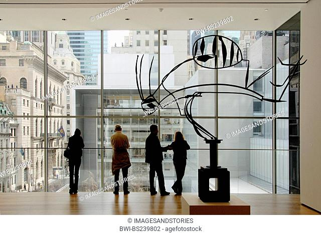 visitors and artwork at the Museum of Modern Art, New York City