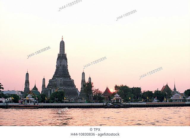 Thailand, Asia, Bangkok, Wat Arun, Temple of Dawn, Chao Praya River, River, Temple, Temples, Thai Temple, Stupa, Stupa