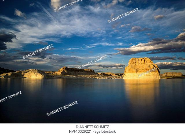 Sunset at Lone Rock Beach, Page, Lake Powell, Colorado River, Arizona, USA