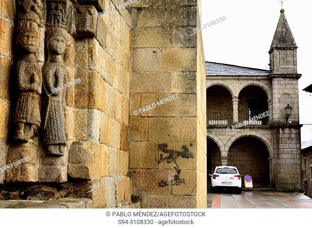 Church of Santa Maria del Azogue and town hall of Puebla de Sanabria, Zamora, Spain