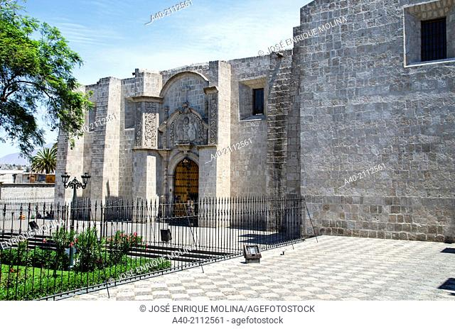 Convent of Saint Francis 1552. Arequipa. Peru. UNESCO World Heritage Site