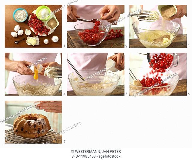 How to prepare redcurrant Bundt cake