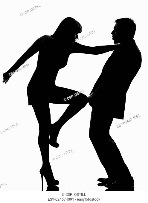 One Couple Man And Woman Domestic Violence