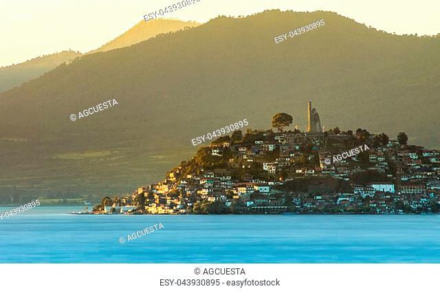 Janitzio island, in the lake of Patzcuaro, Michoacan, Mexico
