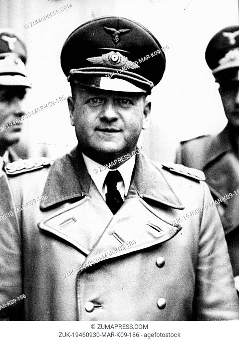 Sep. 30, 1946 - Munich, Germany - (File Photo) Nazi leader ERHARD MILCH standing in his military uniform. (Credit Image: © Keystone Press Agency/Keystone USA...