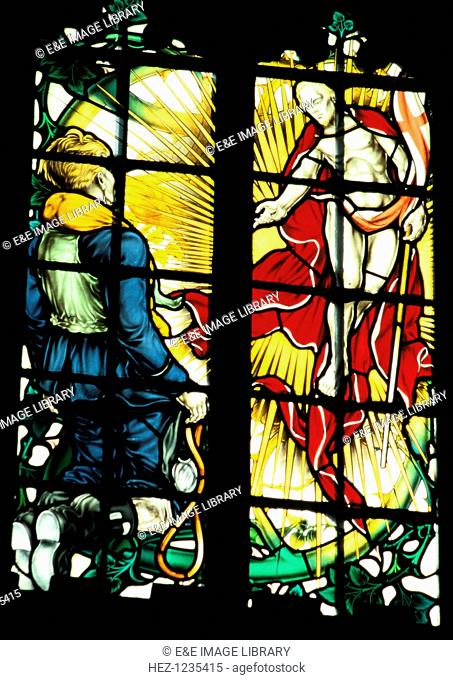 The Battle of Britain memorial window, (detail), Westminster Abbey, London, c1947. The stained glass window, by Hugh Easton