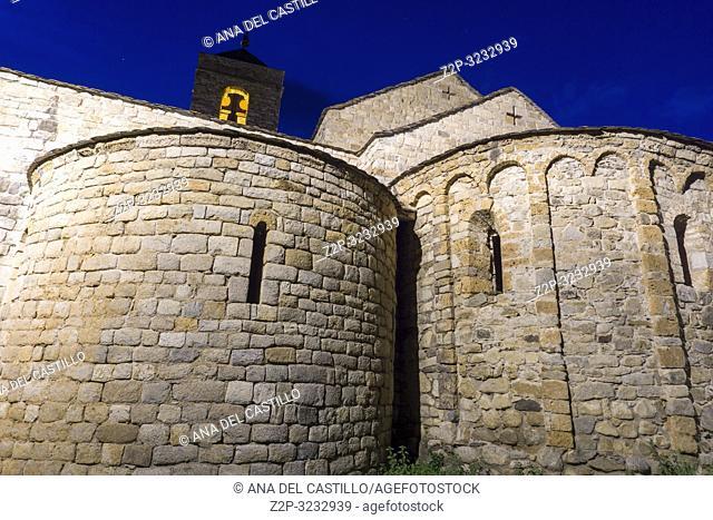 San Felix church in Barruera village Bohi valley Lleida Catalunya Spain