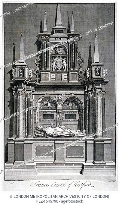 Frances, Countess of Hertford's tomb, Westminster Abbey, London, c1750