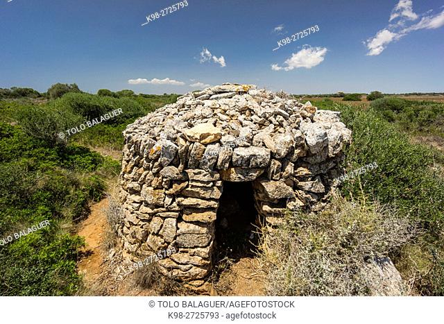 Barraca tradicional de rotero (Traditional hut), Torre de S'Amunia, Santanyi, Majorca, Balearic Islands, Spain