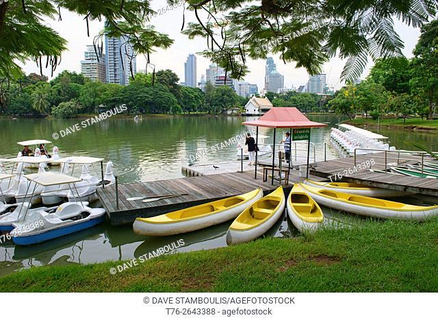 The green oasis of Lumpini Park in Bangkok, Thailand