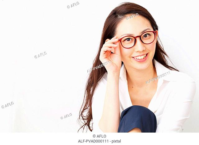 Attractive Japanese woman in a airy room