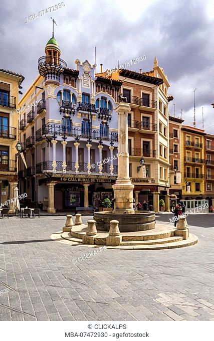 Plaza del Torico, Teruel, Aragon, Spain, Europe