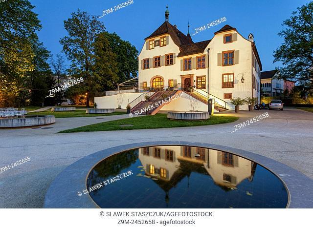 Evening at Schloss Binningen, canton Basel-Country, Switzerland