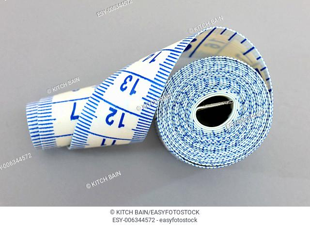 A conceptual dieting image using a measuring tape