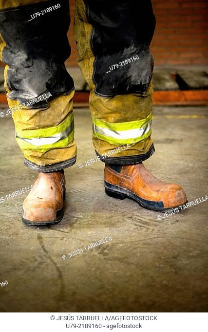 Retrato de bombero español