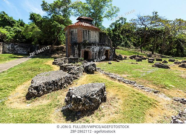 Ruins of the Nigua Sugar Mill, or Ingenio Boca de Nigua, built in the 1600's in Nigua in the Dominican Republic. In 1796